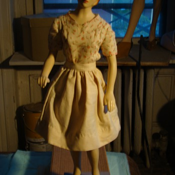 rare 20'' latexture sewing doll - Sewing