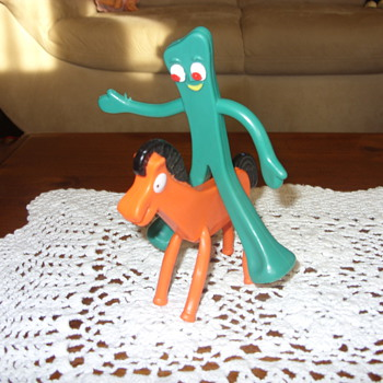 vintage gumby and his horse - Toys