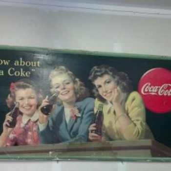 Coke  Litho Cardboard Advertisements from the Mid 1940's
