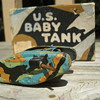WWI &quot;Animate Toy&quot; Baby Tank, tinplate and wood, 1916!