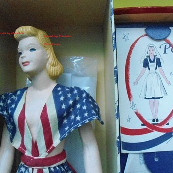 1940's Peggy McCall  Mannequin in Original Patriotic Flag Dress WWII - Dolls