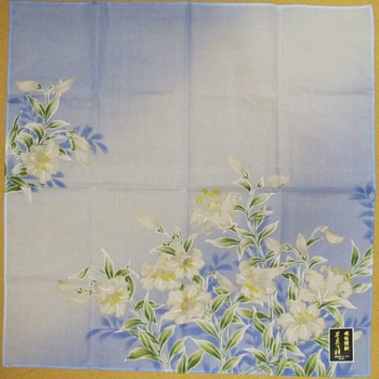 Lovely Blue and White Japanese Handkerchief