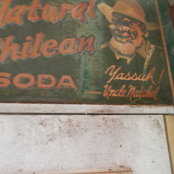 vintage porclin double sided sign of a black man and slogan  - Advertising