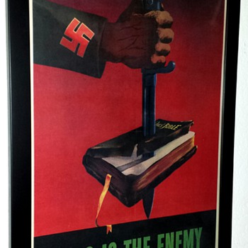 "Original ""This is the Enemy"" WW II Offset Lithograph Poster - Posters and Prints"