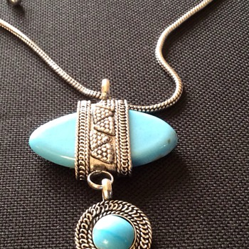 Antique turquoise necklace - Fine Jewelry