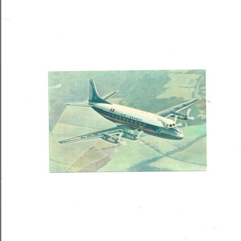 "AIR FRANCE VICKERS ""VISCOUNT"" POSTCARD"