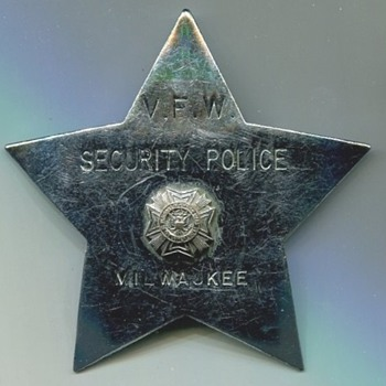 VFW Milwaukee Security Police Badge - Military and Wartime