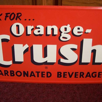 Original Orange Crush Soda Sign - Advertising