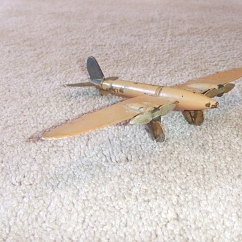 Trench art airplane model of C-47 or C-53