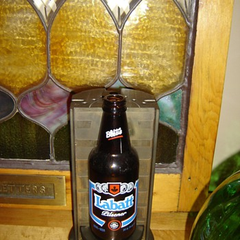 '80's Labatts Beer Bottle mold - Breweriana