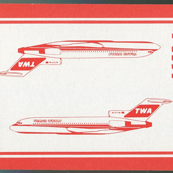 TWA and Continental Playing Cards - Cards