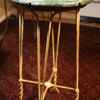 Twisted Wrought Iron Stool - Furniture