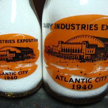 1940 Atlantic City Dairy Industries Exposition bottles....