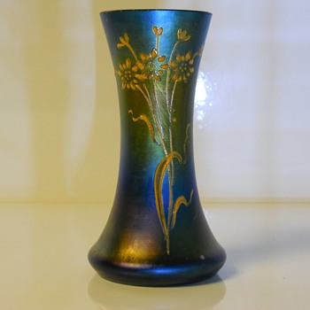 Iridescent Bohemian Vase, Unknown Maker,c1900