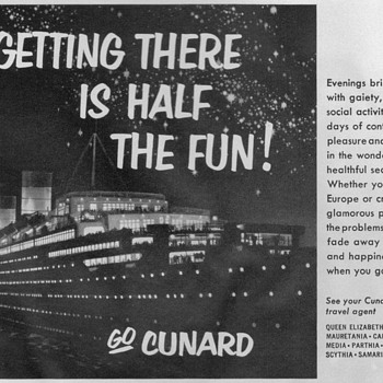 1953 - Cunard Lines Advertisements - Advertising
