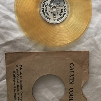 Rare 1924 Calvin Coolidge Presidential Record with Original Sleeve - Records