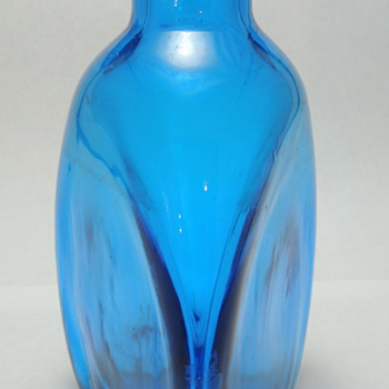 Blue Triangular Bottle
