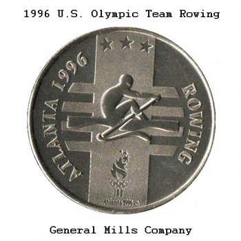 "1996 - Atlanta Olympics ""Rowing"" Medal - Outdoor Sports"