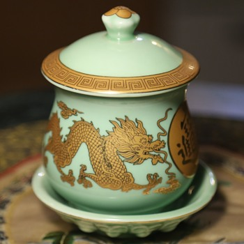 Covered Jar and Plate - Chinese