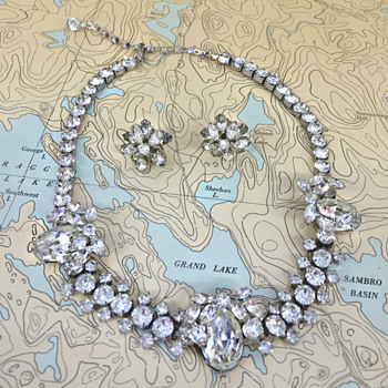 Sherman Necklace 1950's - Costume Jewelry