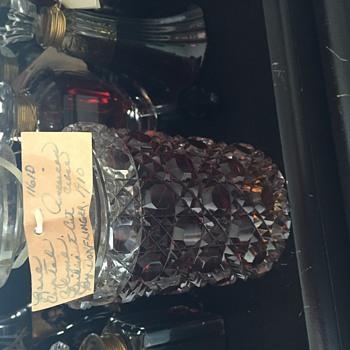 Dorflinger 1910 Briliant Cut perfume bottle