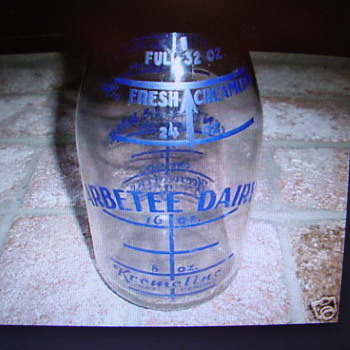 "Blue ""Kremeline"" Arbetee Dairy Milk Bottle......"