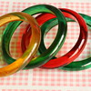 Bakelite and lucite yummie candy bangles