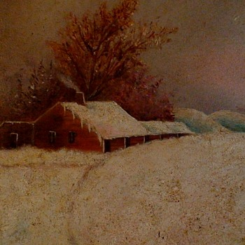 Snowstorm Oil Painting By Flora Taylor December 23, 1885 - Visual Art