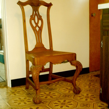 Chippendale side chair with cane seat.  Real or repro?  Age?  Info?  Thanks! - Furniture