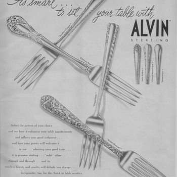 1950 Alvin Silversmiths Advertisements