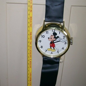 "Mickey Mouse Elgin Watch 38"" Long for Kerry  - Clocks"
