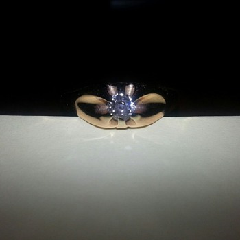 My favorite antique diamond ring with rose gold - Fine Jewelry
