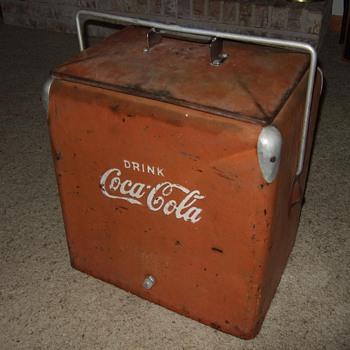 coca cola picnic cooler, 1950's - Coca-Cola