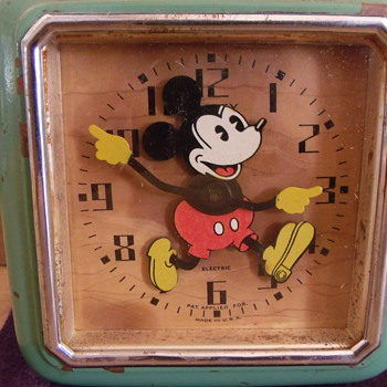 "The First Issue ""Electric"" Mickey Mouse Clock....Circa 1933"