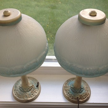Aladdin Muncie Pair of Lamps, Any info helpful:) Found at estate sale and I am unable to find anything like them online. - Lamps