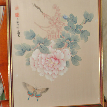 China painting on silk
