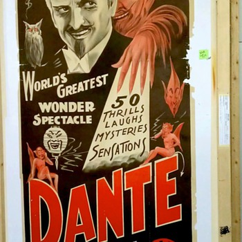 Original &quot;Dante&quot; 3-sheet Stone Lithograph Poster