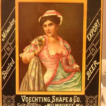 Schlitz Victorian Trade card - Breweriana