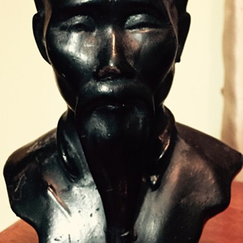 Bronze painted Japanese/Chinese bust