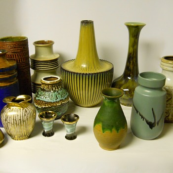 """For your eyes only"", WesternGermanyPottery Grouping, Small Vases, Circa 1950-70 - Art Pottery"