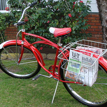 Kevin's Unrestored 1964 Schwinn Wasp Newsboy's Special - Outdoor Sports
