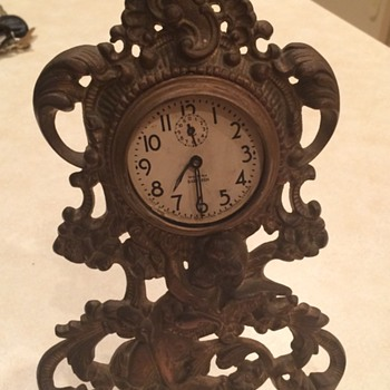 Victorian Brass Cherub Clock Case