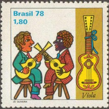 "1978 - Brazil ""Musicians"" Postage Stamps - Stamps"