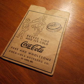 1936 Coca-Cola Report Card Holder with report card