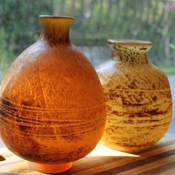 Two vases by Kurata Japan - Art Glass