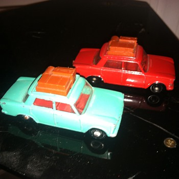 Matchbox Fiats...  One is worth much more than the other...