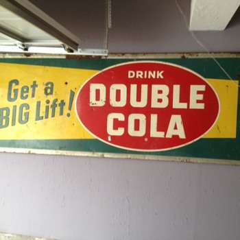 Huge Double cola sign 1956 - Signs