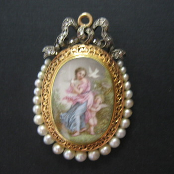 French Mourning Locket / Pendant
