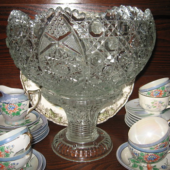 Cut Glass Punch Bowl...1960's - Glassware