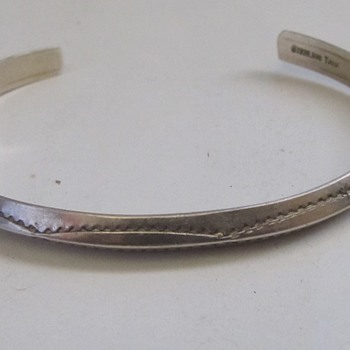 Sterling bracelet fine marked